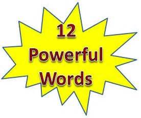 Thesis statement about the power of words